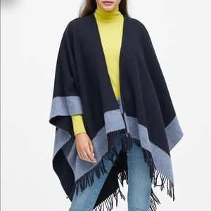 Jackets & Blazers - Reversible Wool Blended Poncho